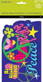Peace/Love Sticker Album Craft Supplies