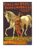 Ringling Bros Circus Barnum and Bailey, USA - Giclee Baskı