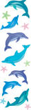 Dolphins Glitter Slim Stickers Stickers