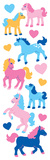 Horses Cute Puffy Fuzzy Slim Stickers Stickers