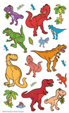 Dinosaurs 4 Sheet Stickers Stickers