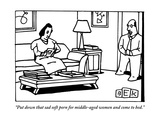"""Put down that sad soft porn for middle-aged women and come to bed."" - New Yorker Cartoon Premium Giclee Print by Bruce Eric Kaplan"