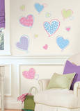 Hearts Peel & Stick Wall Decals Autocollant mural