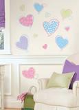 Hearts Peel & Stick Wall Decals - Duvar Çıkartması