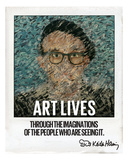 Art Lives Photographic Print by Keith Haring