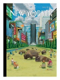 The New Yorker Cover - August 27, 2012 Premium Giclee Print by Bruce McCall