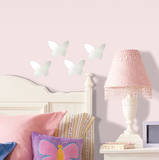 Butterfly Peel & Stick Mirror (Small - 4 pieces) - Duvar Çıkartması