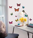 Butterfly 3-D Wall Decals Kalkomania ścienna