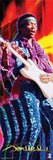 Jimi Hendrix - Playing Guitar, Trippy Prints