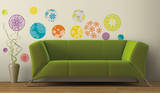 Patterned Dots Peel & Stick Wall Decals Autocollant