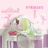 Ballet Peel & Stick Wall Decals w/Glitter Wall Decal