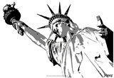 Steez Lady Liberty - BW Posters