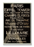 Paris Cities & Words Wood Sign