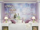Princess & Frog Chair Rail Prepasted Mural Wall Mural