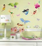 Disney Fairies Peel & Stick Wall Decals Kalkomania ścienna