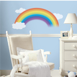 Over the Rainbow Peel &amp; Stick Giant Wall Decal Autocollant mural