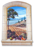 Vineyard Window Wood Sign