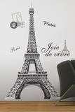 Eiffel Tower Peel & Stick Giant Wall Decal Wall Decal