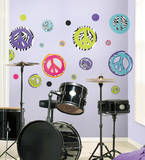 Zebra Peace Signs Peel & Stick Wall Decals Wall Decal
