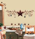 Stelle e bacche, stile country (sticker murale) Decalcomania da muro