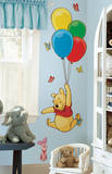 Winnie the Pooh - Pooh & Piglet Peel & Stick Giant Wall Decal - Duvar Çıkartması