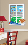 Game Day Football Peel & Stick Window Wall Decal Wall Decal
