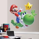 Nintendo - Mario Yoshi gigante (sticker murale) Decalcomania da muro