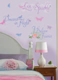 Disney Fairies Phrases Peel & Stick Wall Decals Wall Decal