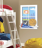 Backyard Basketball Peel & Stick Window Wall Decal Wall Decal