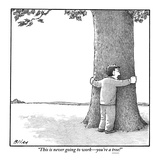 """This is never going to work—you're a tree!"" - New Yorker Cartoon Premium Giclee Print by Harry Bliss"
