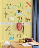 Animal Alphabet Peel & Stick Wall Decals Kalkomania ścienna