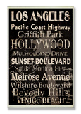 Los Angeles Cities & Words Wood Sign