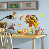 Nintendo - Super Mario Peel & Stick Wall Decals Autocollant