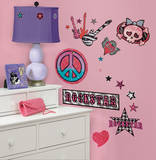 Girls Rock-n-Roll Peel & Stick Wall Decals Muursticker