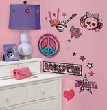 Rock-n-Roll ragazze (sticker murale) Decalcomania da muro