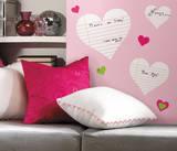 Heart Notepad Dry Erase Peel & Stick Wall Decals Kalkomania ścienna