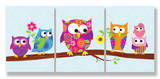 Polka Dot & Stripe Owls Trip Set Wood Sign