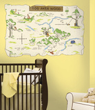 Winnie the Pooh - 100 Aker Wood Peel & Stick Map Wall Decal