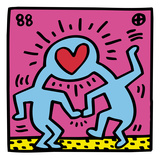 Pop Shop (Heart) Reproduction procédé giclée par Keith Haring