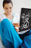 Peace Signs Peel & Stick Laptop Wear Laptop Stickers