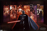 Star Wars - Mural Saga Collection I-VI Prints