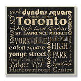 Toronto Landmarks Typography Wood Sign