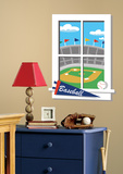 Play Ball Peel & Stick Window Wall Decal Wall Decal