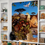 Jungle Chair Rail Prepasted Mural Wall Mural