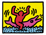 Pop Shop (Dolphin Rider) Reproduction procédé giclée par Keith Haring