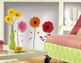 Small Gerber Daisies Peel & Stick Wall Decals Wall Decal