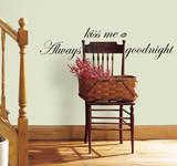 Always Kiss Me Goodnight Peel & Stick Single Sheet Autocollant mural