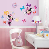 Mickey & Friends - Minnie Bow-Tique Peel & Stick Wall Decals Adhésif mural