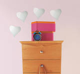 Heart Peel & Stick Mirror (Small - 4 pieces) Wall Decal
