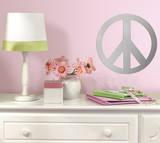 Peace Sign Peel & Stick Mirror (Large) Kalkomania ścienna